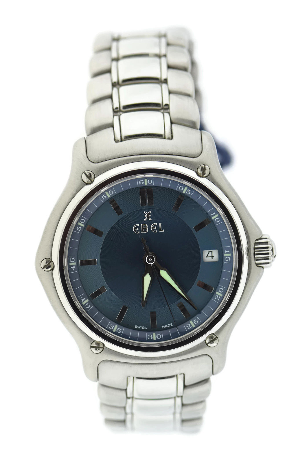 """Image of """"Ebel 1911 9187241 Stainless Steel Blue Dial Quartz 38mm Mens Watch"""""""