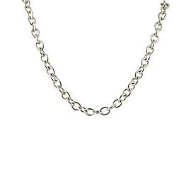 Judith Ripka 925 Sterling Silver Lobster Cable Chain Necklace