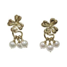 Mikimoto 18K Yellow Gold & Akoya Pearl Earrings