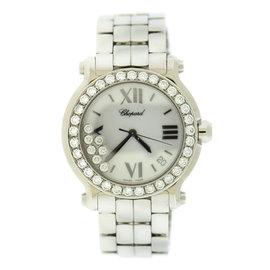 Chopard Happy Sport 278477 Stainless Steel with Diamonds Quartz 36mm Womens Watch
