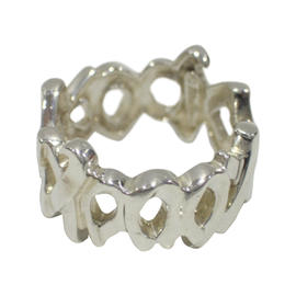 Tiffany & Co. Paloma Picasso Sterling Silver XO Band Ring Size 5.5