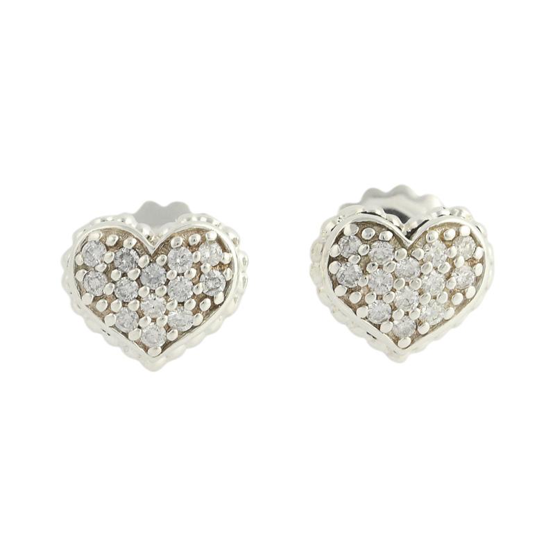 "Image of ""Lagos Caviar Sterling Silver & 14K Yellow Gold 0.42ct Diamond Heart"""