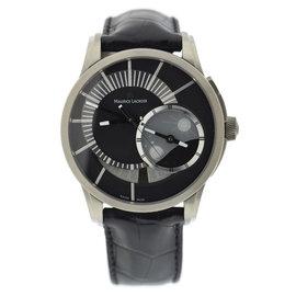 Maurice Lacroix Pontos PT6108 Titanium & Leather Automatic 45mm Mens Watch