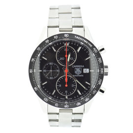 Tag Heuer Carrera CV2014-2 Stainless Steel Black Dial Automatic 41mm Mens Watch