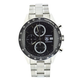 Tag Heuer Carrera CV2010-4 Stainless Steel Black Dial Automatic 41mm Mens Watch