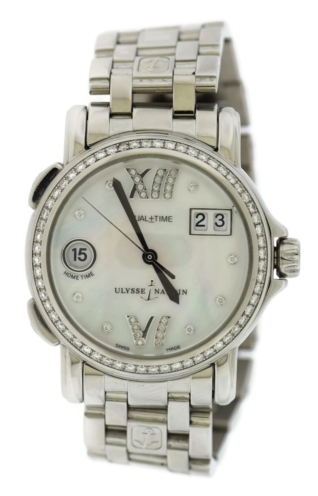 "Image of ""Ulysse Nardin 223-28B/391 Stainless Steel wDiamond Mother Of Pearl"""
