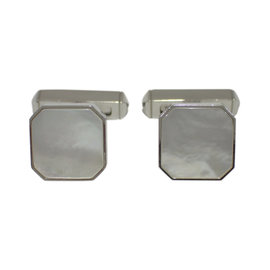 Cartier 925 Sterling Silver Mother Of Pearl Cufflinks