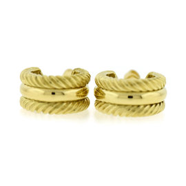 David Yurman 18K Yellow Gold Classic Cable Earrings