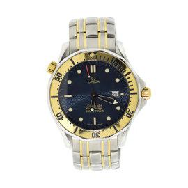 Omega Seamaster 2332.80 18K Gold/Stainless Steel Blue Dial Quartz 41mm Mens Watch