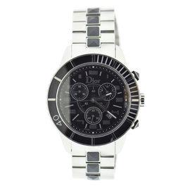 Christian Dior Christal CD114317M001 Stainless Steel Black Dial Quartz 38mm Unisex Watch