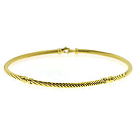 David Yurman 18K Yellow Gold Classic Cable Necklace