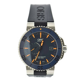 Oris Aquis 7654 Titanium & Rubber Automatic 43mm Mens Watch