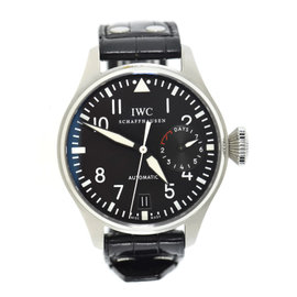 IWC Big Pilot 7 Day Power Reserve 500401 Stainless Steel & Leather Automatic 46mm Mens Watch