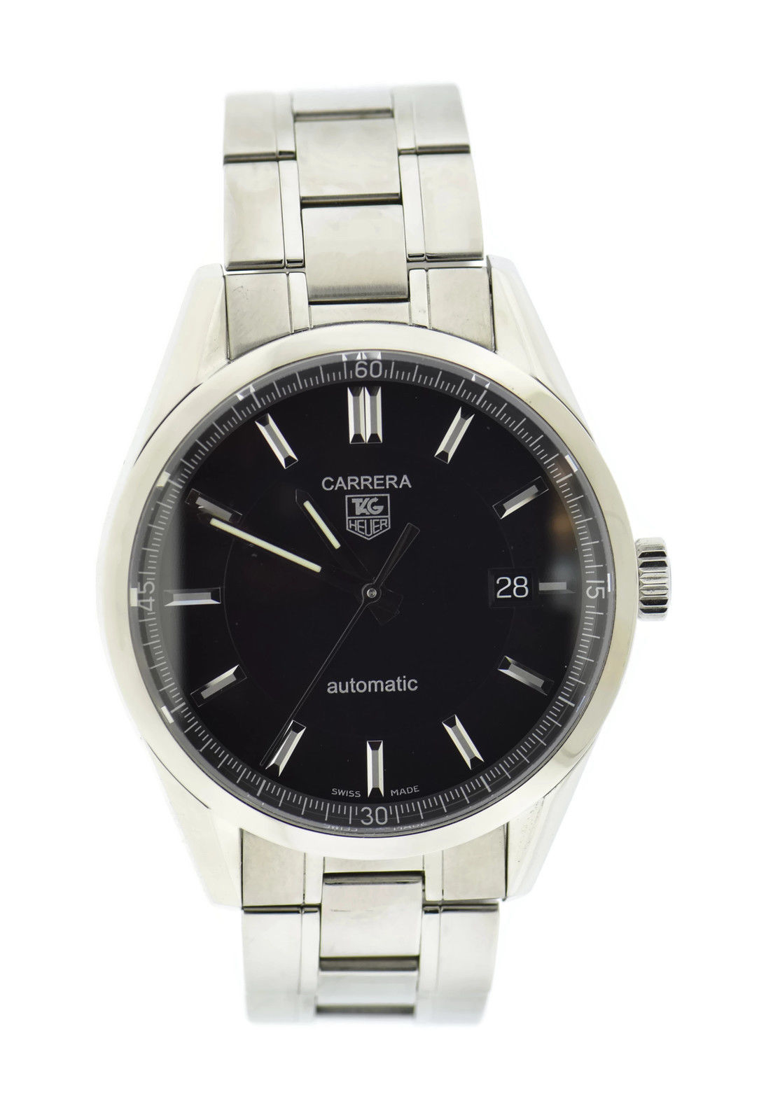 """Image of """"Tag Heuer Carrera Wv211B Stainless Steel Automatic 39mm Mens Watch"""""""