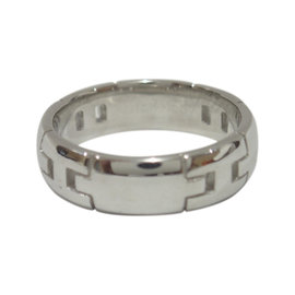 Hermes 18K White Gold Hercules Ring Size 6.5