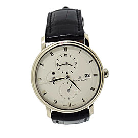 Blancpain Villeret GMT 6260 18K White Gold / Leather 38mm Mens Watch