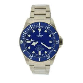 Tudor Pelagos 25600TB Titanium Blue Dial Automatic 42mm Mens Watch