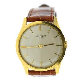 Patek Philippe Calatrava 2588 18K Yellow Gold & Leather Manual 33mm Unisex Watch