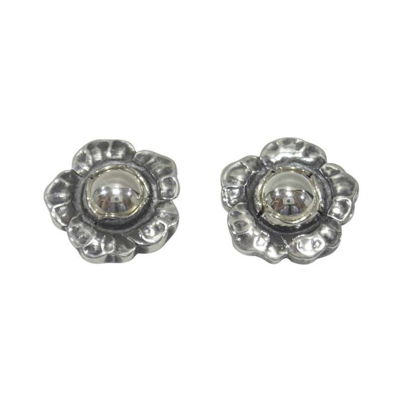 "Image of ""George Jensen 925 Sterling Silver Clip Earrings"""