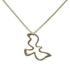 Tiffany & Co. Paloma Picasso 18K Yellow Gold Dove Pendant Necklace