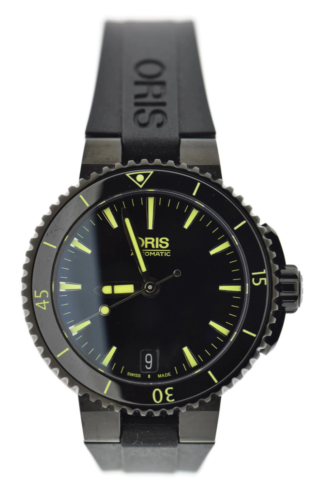 """Image of """"Oris Aquis 7652 Stainless Steel & Rubber Automatic 36mm Womens Watch"""""""