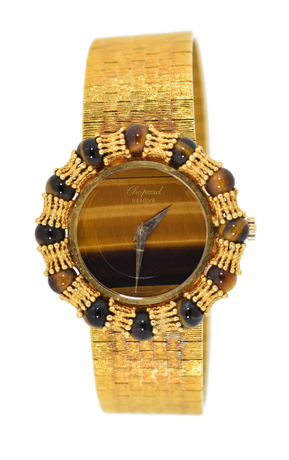 """Image of """"Chopard Tigers Eye 18K Yellow Gold Manual Vintage 31mm Womens Watch"""""""
