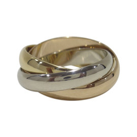 Cartier Trinity 18K Yellow, White & Rose Gold Ring Size 5.25