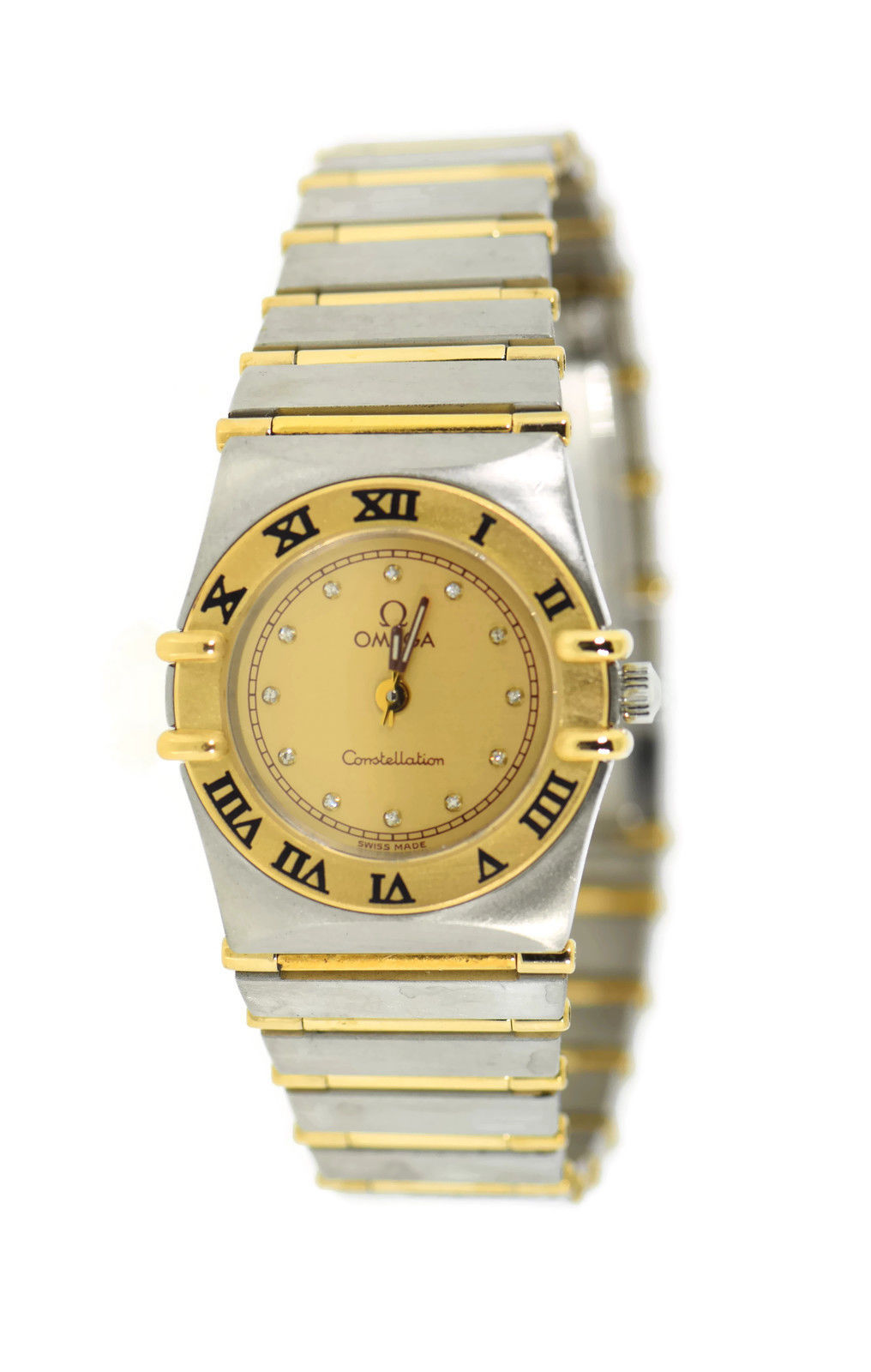 "Image of ""Omega Constellation Two Tone Stainless Steel Yellow Diamond Dial"""