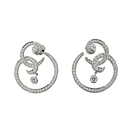 Van Cleef & Arpels Oiseaux De Paradis 18K White Gold Diamond Earrings