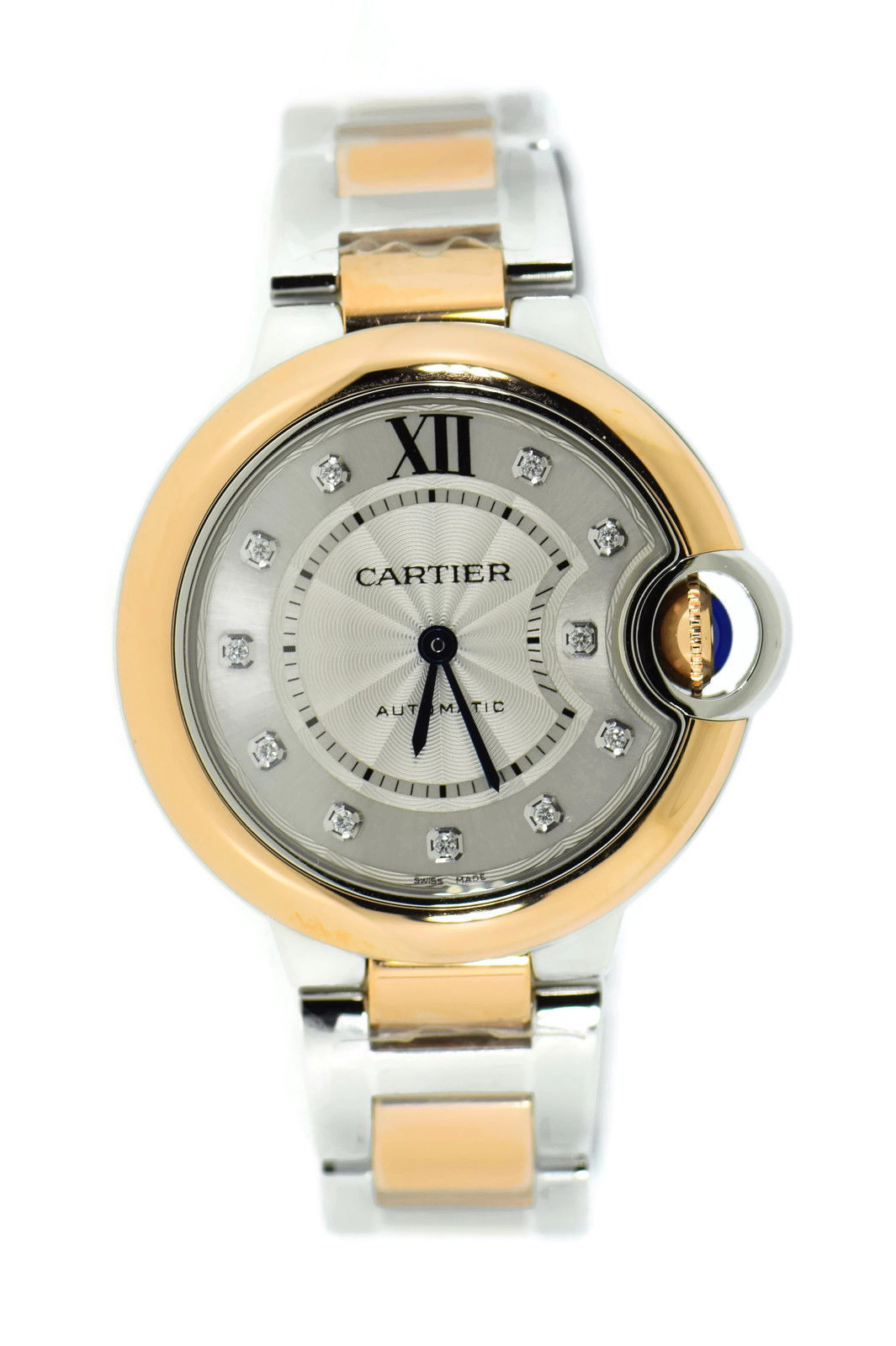"""Image of """"Cartier Ballon Bleu W3Bb0006 18K Rose Gold & Stainless Steel Automatic"""""""