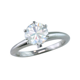 Tiffany & Co. Platinum 1.54ct Diamond Solitaire Engagement Ring Size 6.25
