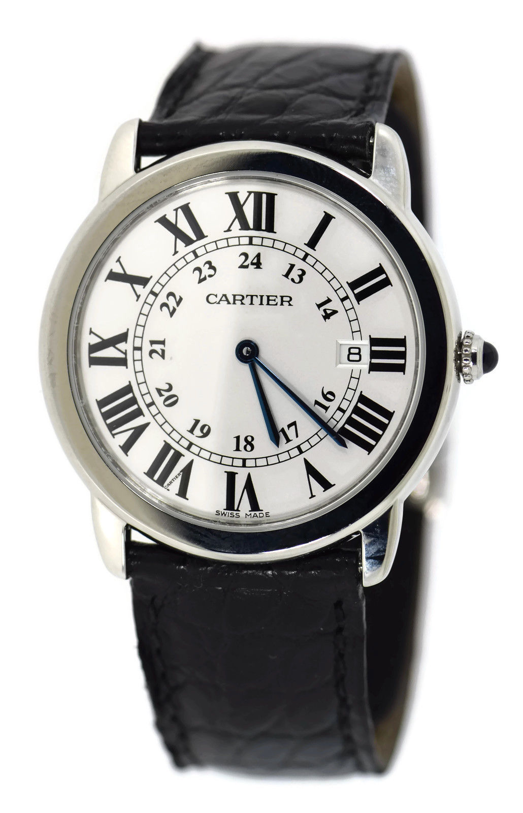 """Image of """"Cartier Ronde Solo W6700255 Stainless Steel & Leather Quartz 36mm"""""""