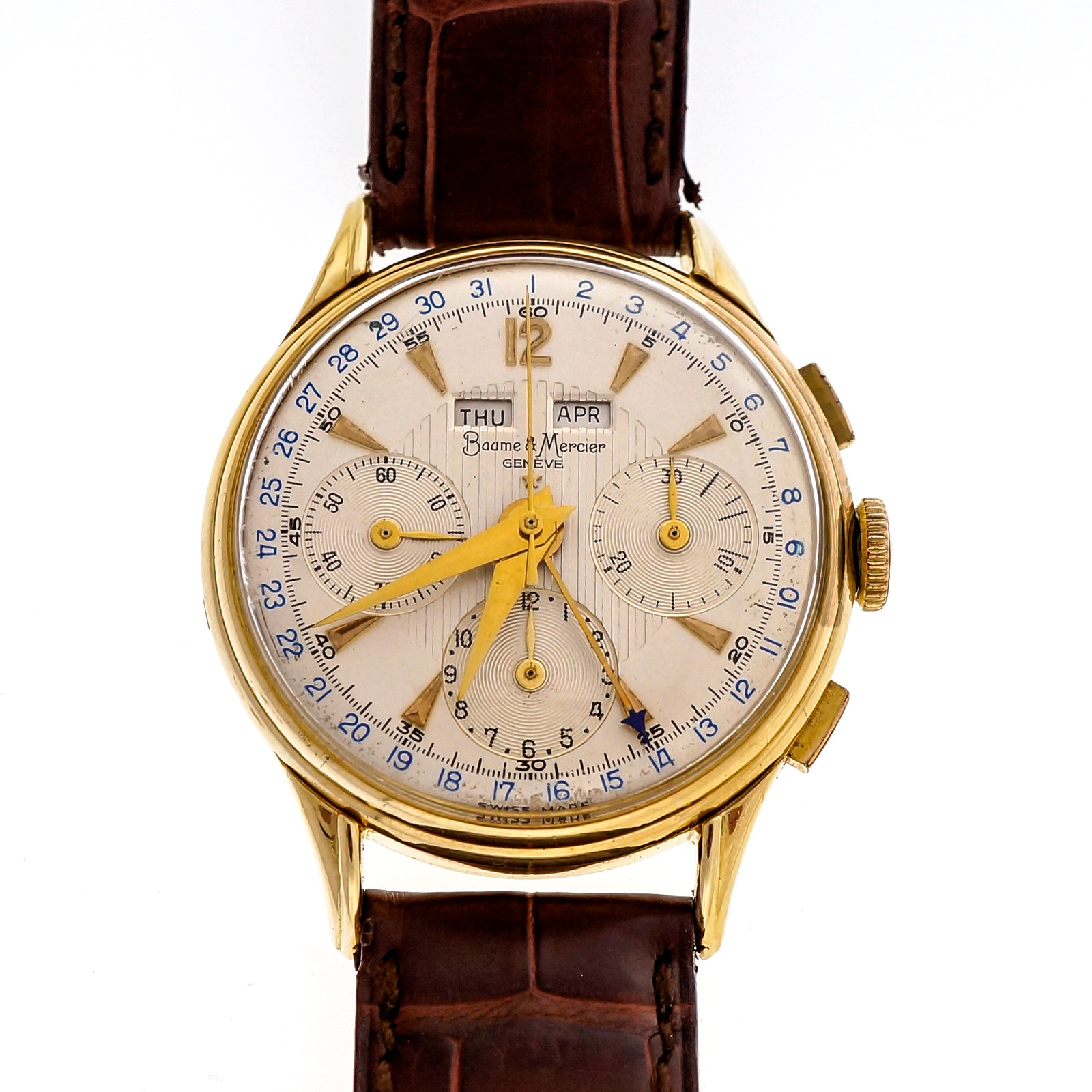 "Image of ""Baume & Mercier 18K Yellow Gold Vintage Manual 36mm Mens Watch"""