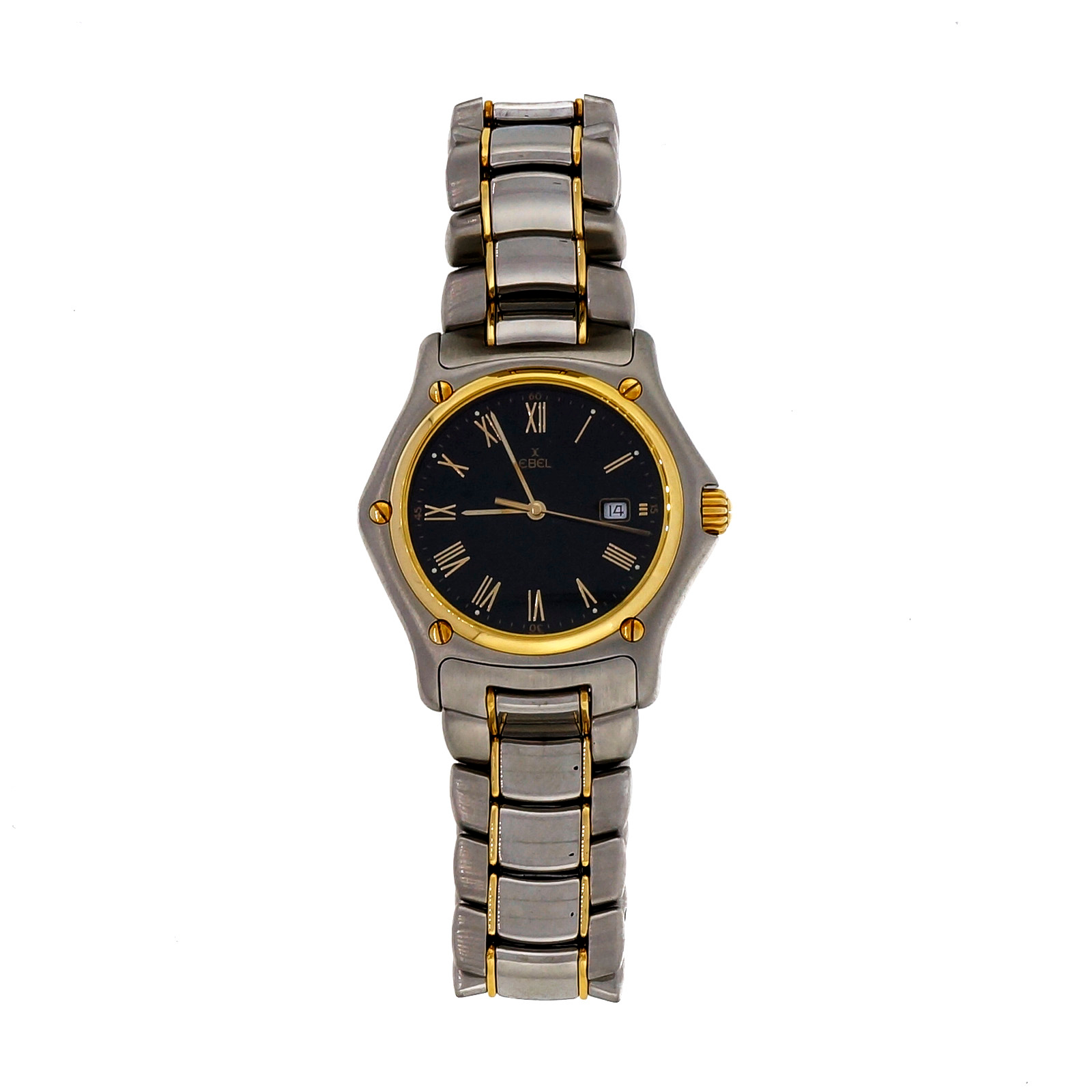 "Image of ""Ebel 1911 Quartz Stainless Steel Black Dial 33mm Womens Wrist Watch"""