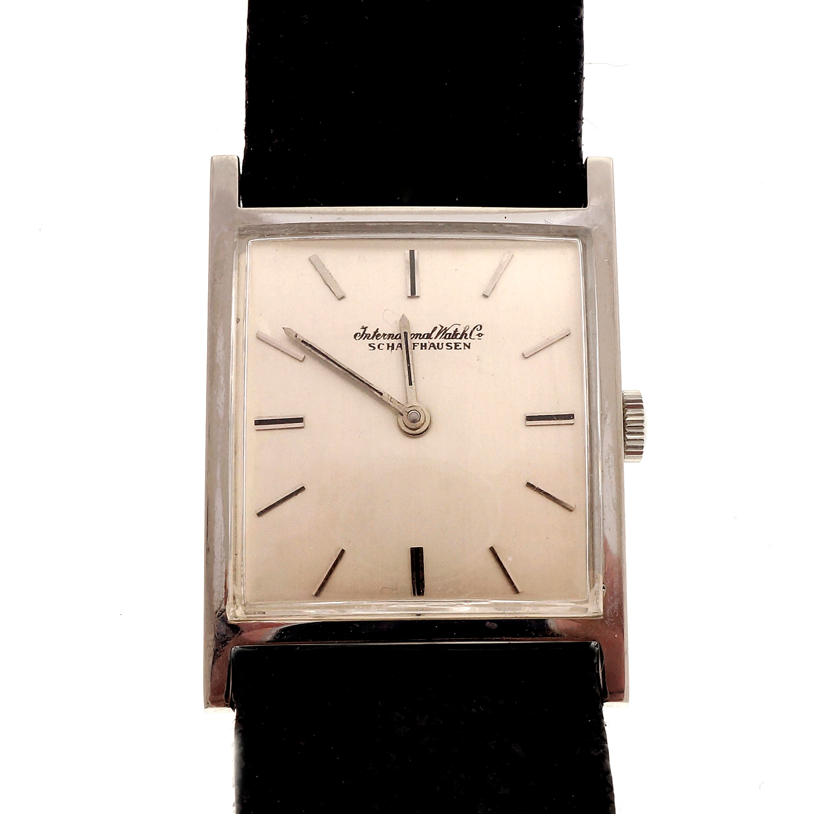 "Image of ""IWC 18K White Gold Manual Vintage 25.67mm Mens Watch"""