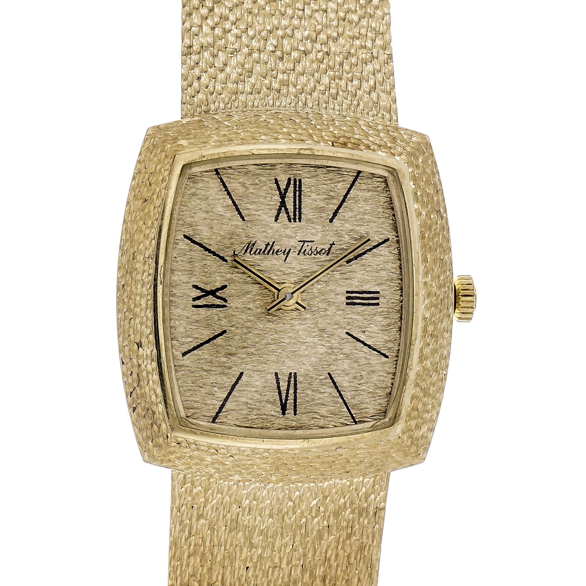 "Image of ""Mathey Tissot 14K Gold Manual 27mm Womens Watch 1960"""