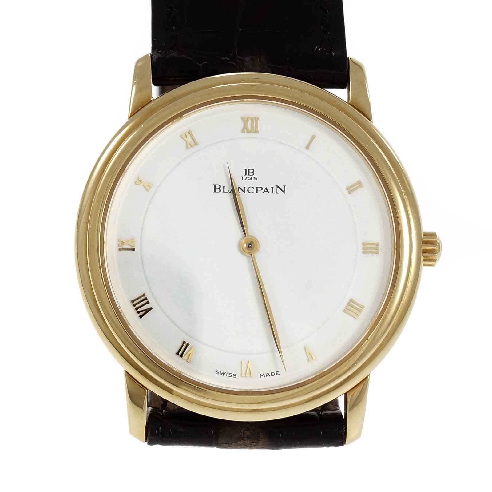 "Image of ""Blancpain 1081 18K Yellow Gold & 21K White Gold with Leather Automatic"""