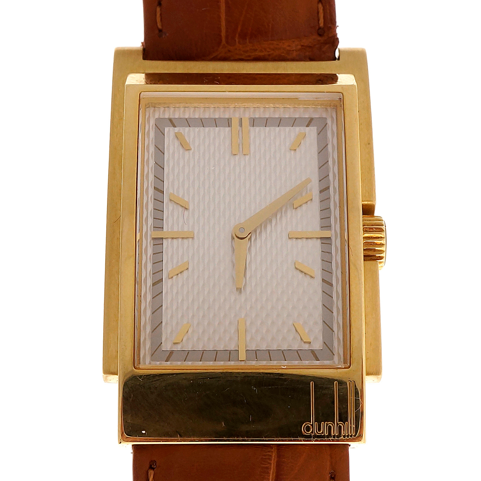 "Image of ""Dunhill 18K Yellow Gold Quartz 26.13mm Mens Watch"""