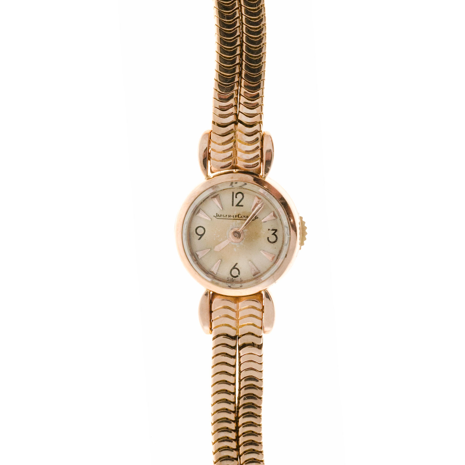 "Image of ""Jaeger Lecoultre 18K Pink Gold Manual 22mm Womens Watch"""