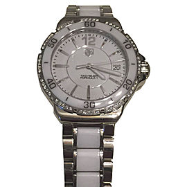 Tag Heuer WAH1213 Stainless Steel & White Ceramic 37mm Watch