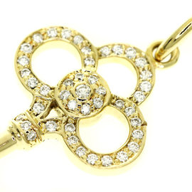 Tiffany And Co. 18K Yellow Gold Crown Key Diamond Pendant