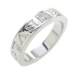 Bulgari 18K White Gold Diamond Ring Size 5