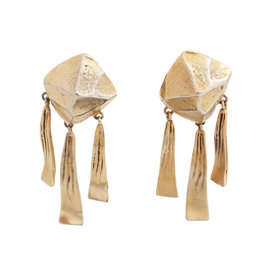 Hermes Gold Tone Hardware Fantaisie Earrings