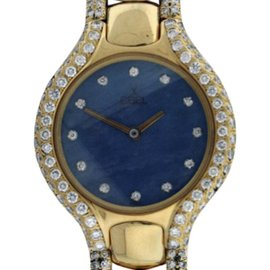 Ebel Beluga 18K Yellow Gold MOP & Diamond 24mm Watch