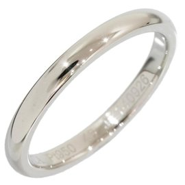 Van Cleef & Arpels Platinum Simple Wedding Band Size 3.75 Ring