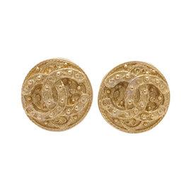 Chanel Gold Tone Hardware CC Mark Earrings