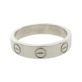 Cartier Mini Love 18K White Gold Ring Size 3.75