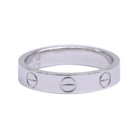 Cartier Mini Love 18K White Gold Ring Size 4.75