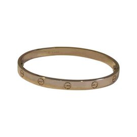 Cartier 18K Rose Gold Love Bracelet Size 19