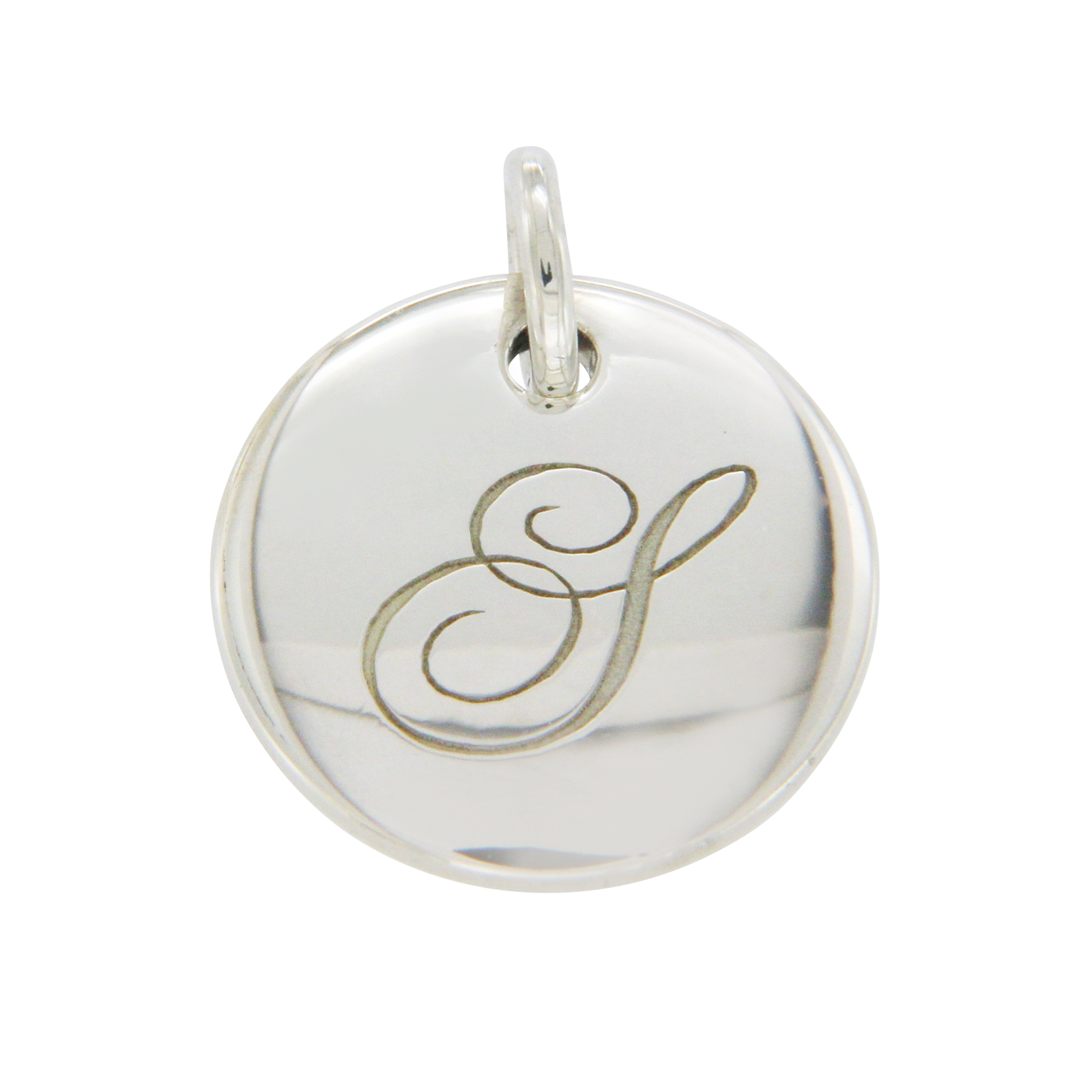 "Image of ""Tiffany & Co. 925 Sterling Silver Round Tag Note Letter S Pendant"""